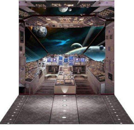 3D Photo Background & Stand Space Station Flight Deck Australian Hire