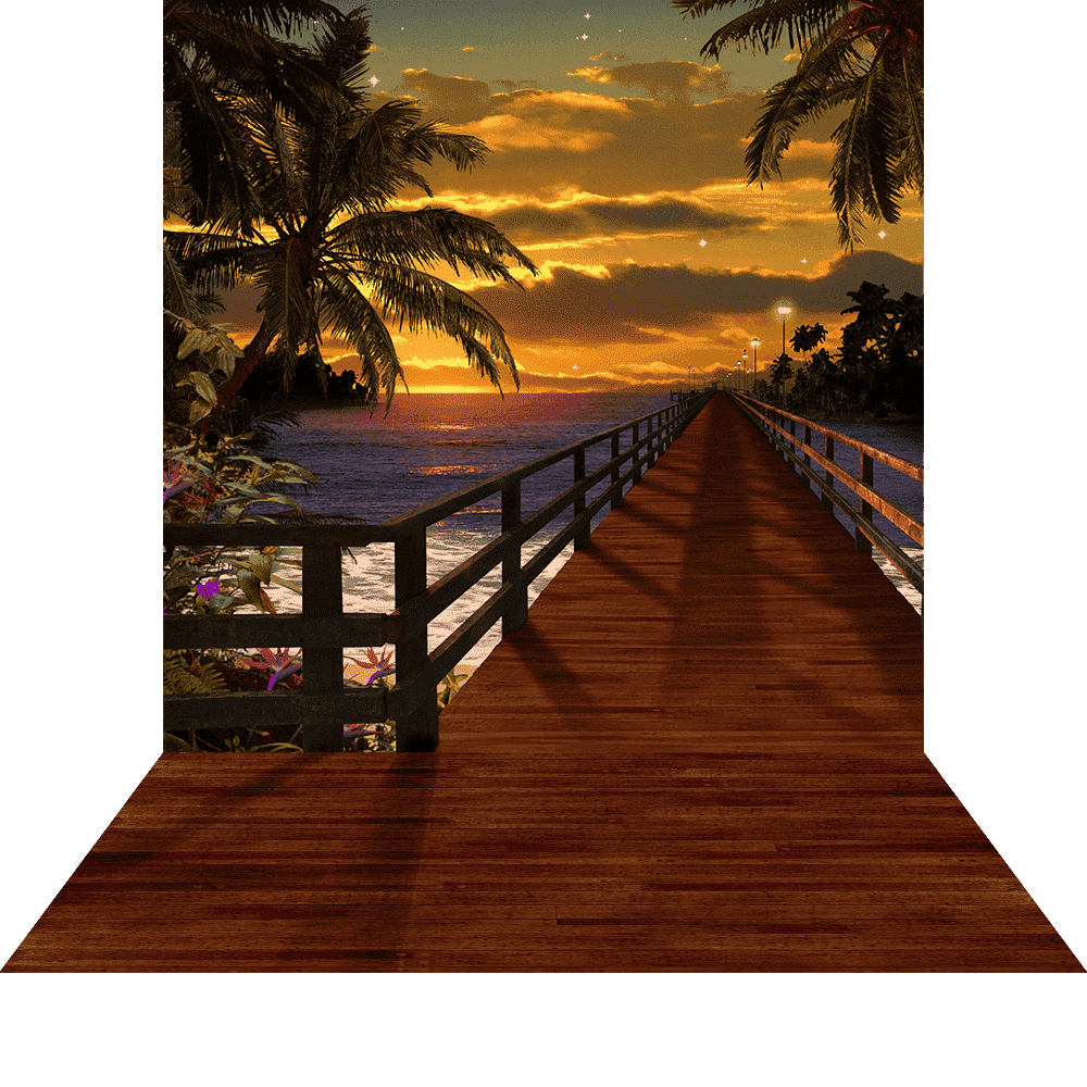 Arch Hire - 3D Photo Background & Stand Tropical Sunset Beach Scene Australian Hire