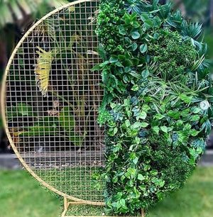 Arch Hire - Backdrop 200cm Round Mesh Foliage Wall Melbourne Hire