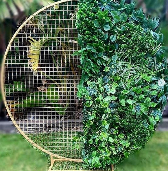 Backdrop 200cm Round Mesh Foliage Wall Melbourne Hire