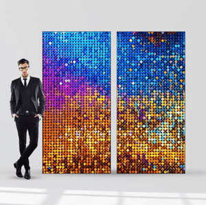 Arch Hire - Backdrop 250cm Shimmering 70s Disco Sequin Print Melbourne Hire