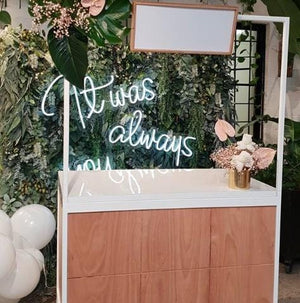 Bar Carts & Accessories Hire - Drinks Refreshments Cart 120cm Melbourne Hire