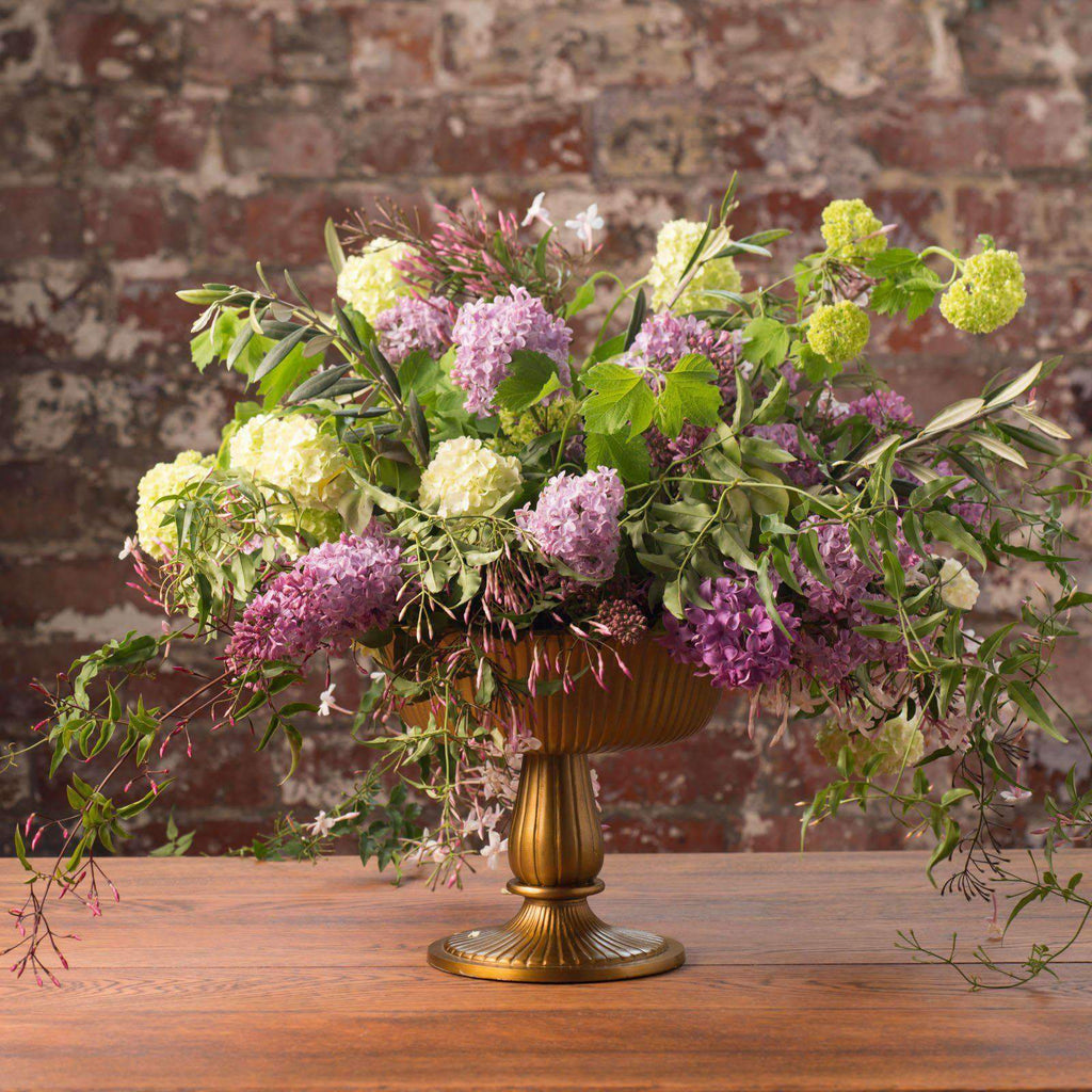 Bowl 19cm Gold Aluminium Vase Australian Hire | My Event Decor ...