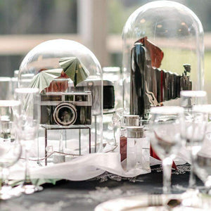 Centrepiece Hire - Glass Dome Cloche 33cm Retail Display Event Expo Melbourne Hire