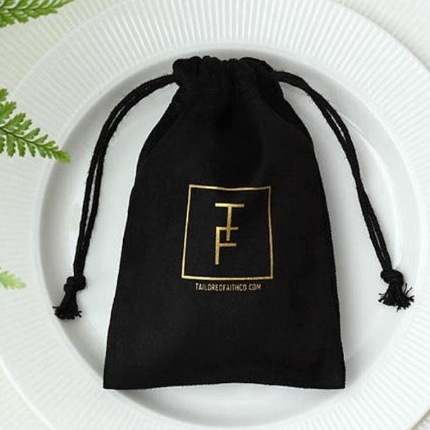 Corporate Gifts & Favours - Gift Jewellery Bag Velvet Gold Logo Set Of 100