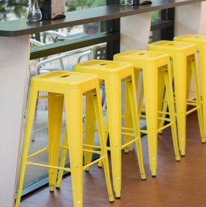 Furniture Hire - Bar Stool Steel Tolix Colour Outdoor Melbourne Hire