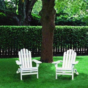 Furniture Hire - Chair Adirondack White Wooden Set Of 2 Melbourne Hire