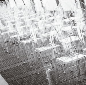Furniture Hire - Chair Clear Victoria Ghost Party Venue Guest Seating Melbourne Hire