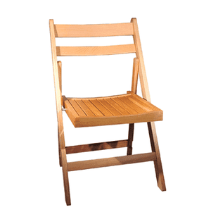 Furniture Hire - Chair Natural Wooden Foldup Outdoor Venue Seating Melbourne Hire