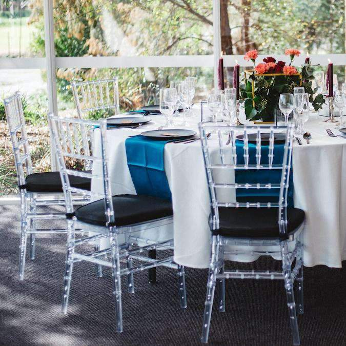 Furniture Hire - Chair Tiffany Chiavari Clear Seating Melbourne Hire