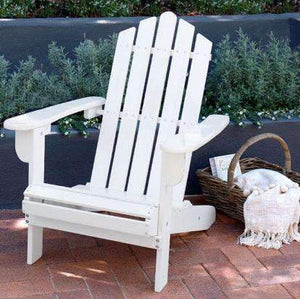 Furniture Hire - Chair White Wooden Adirondack Seating Set Of 2 Melbourne Hire