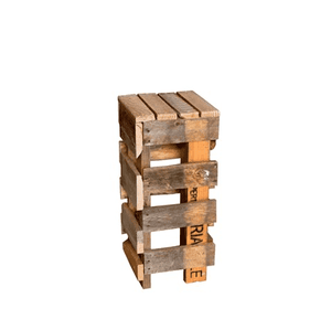 Furniture Hire - Pallet Crate Cocktail Bar Stool 75cm Outdoor Event Melbourne Hire
