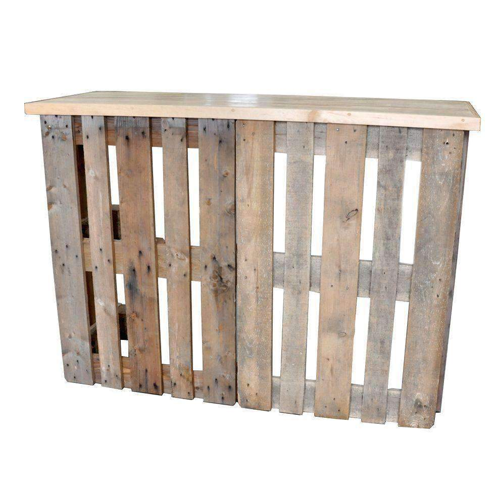 Furniture hire pallet crate rustic bar 123cm outdoor event melbourne hire