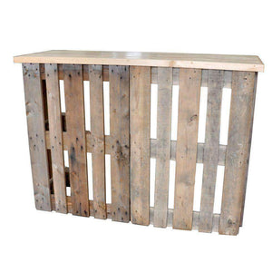 Furniture Hire - Pallet Crate Rustic Bar 123cm Outdoor Event Melbourne Hire