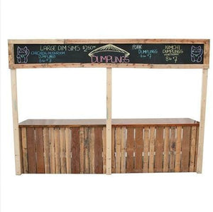 Furniture Hire - Pallet Crate Rustic Festival Stall 340cm Melbourne Hire