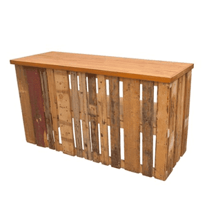 Furniture Hire - Pallet Crate Rustic Food Bar 92cm Outdoor Event Melbourne Hire