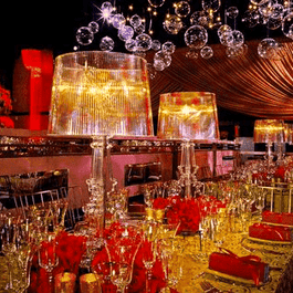Lamp Table 72cm Clear Kartell Bourgie Lighting Glamorous Event Melbourne Hire
