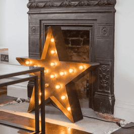 Marquee Light 75cm Hollywood LED Star Sign Melbourne Hire