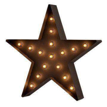 Lantern & Lighting Hire - Marquee Light 75cm Hollywood LED Star Sign Melbourne Hire
