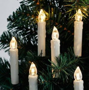 Lanterns & Lighting - Candle LED 10cm Christmas Tree Decor Set Of 10