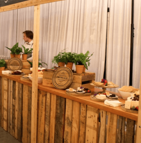Pallet Crate Rustic Festival Stall 340cm Melbourne Hire