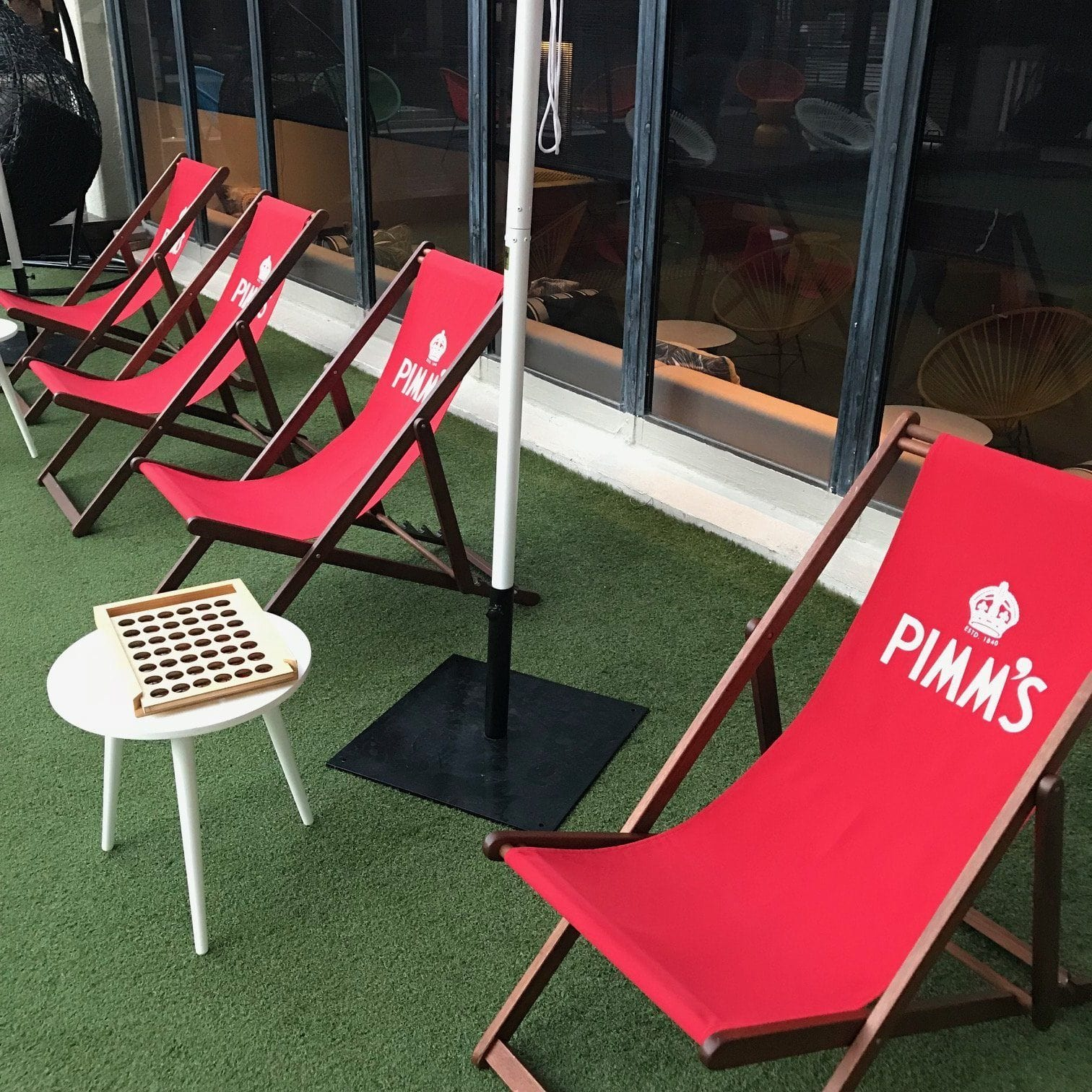 Props & Details - Chair Deck Chair 123cm Corporate Logo Set Of 4