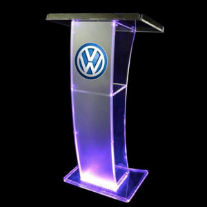 Props & Details - Lectern 110cm Customised Illuminated Perspex Melbourne Delivery