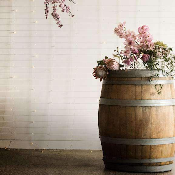 Props Hire - Bar 95cm Rustic Wooden Wine Barrel Melbourne Hire