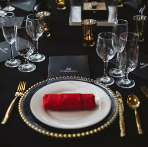 Props Hire - Cutlery Gold 5 Pieces Per Guest Melbourne Hire
