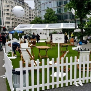 Props Hire - Picket Fence Astro Turf 6m X 1m Melbourne Hire