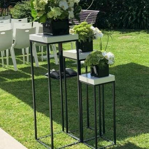Props Hire - Plinth 70-110cm Black Iron Set Of 6 Melbourne Hire
