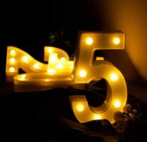Table Number Hire - Table Number 22cm LED Marquee Lights Australian Hire