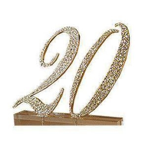 Table Number Hire - Table Number Glamorous Gold Rhinestone Event Australian Hire