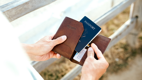 passport holder parker clay leather gifts fathers day