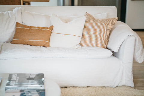 Parker Clay handwoven sustainable pillows