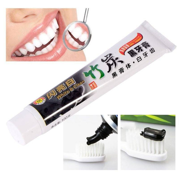 *BAMBOO CHARCOAL TEETH WHITENER TOOTHPASTE - ALL NATURAL