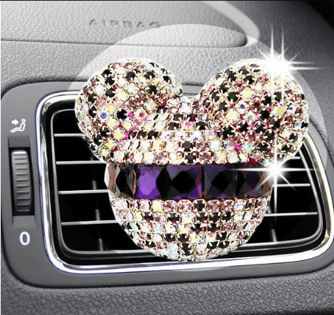 ***50% OFF*** LUXURY MICKEY CRYSTAL RHINESTONE CAR AIR FRESHENER