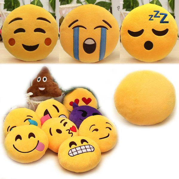 6 Inch Lovely Emoji Smiley Emoticon Pillows