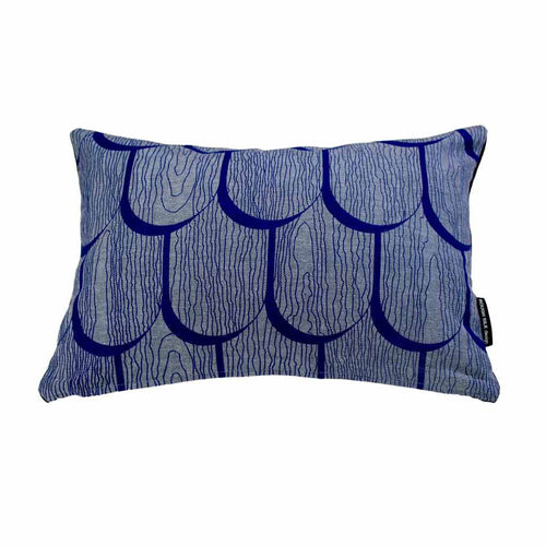 TIMBER SHINGLES RECTANGLE CUSHION / 45x30 / Blue on Denim