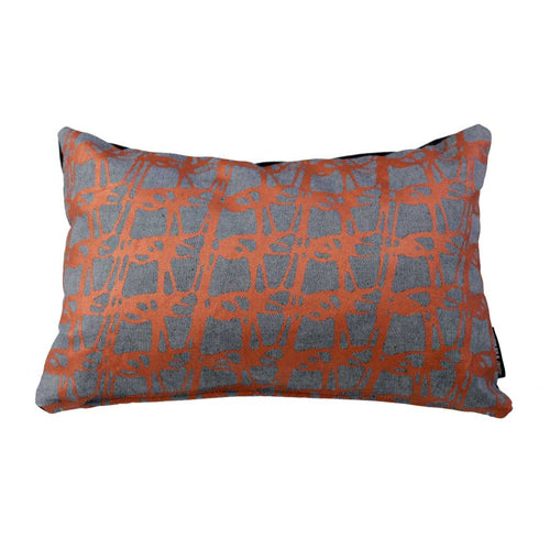 WEAVE RECTANGLE CUSHION / 45x30 / Copper on Denim