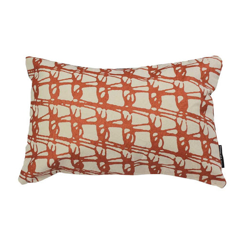 WEAVE RECTANGLE CUSHION / 45x30 / Copper on Natural