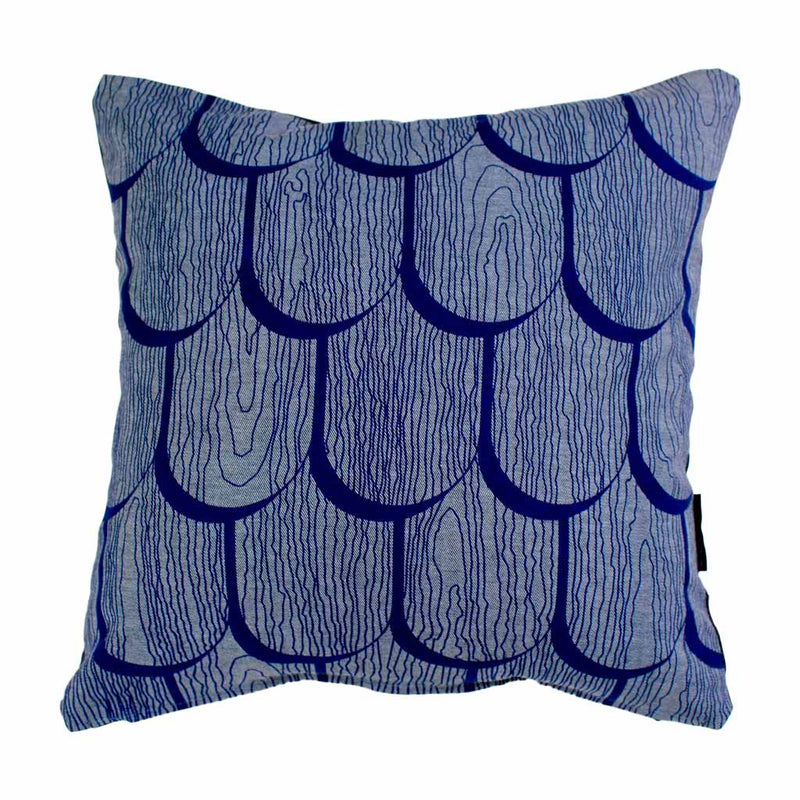 TIMBER SHINGLES SQUARE CUSHION / 45x45 / Blue on Denim