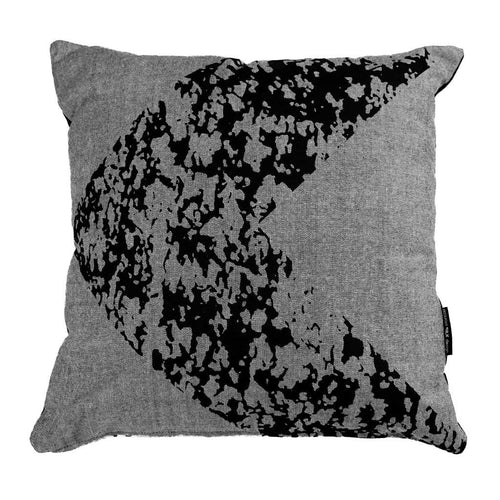Grey cushion with black arrow