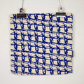 WEAVE SQUARE CUSHION / 45x45 / Blue on Natural