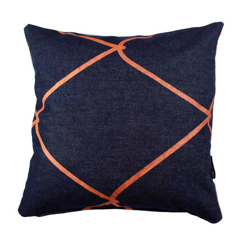 WIRED-WEAVE SQUARE / Copper on Denim