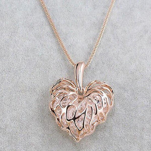 Filigree heart shaped crystal pendant necklace my gear place filigree heart shaped crystal pendant necklace aloadofball Choice Image
