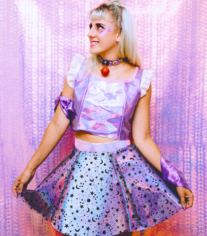 Pearl Holographic Skirt