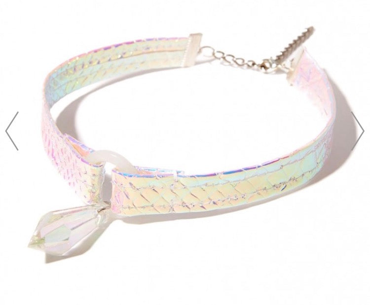 Crystal Diamond Drop Holographic Choker
