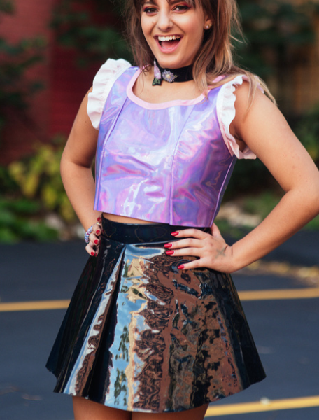 Black Holographic Skirt