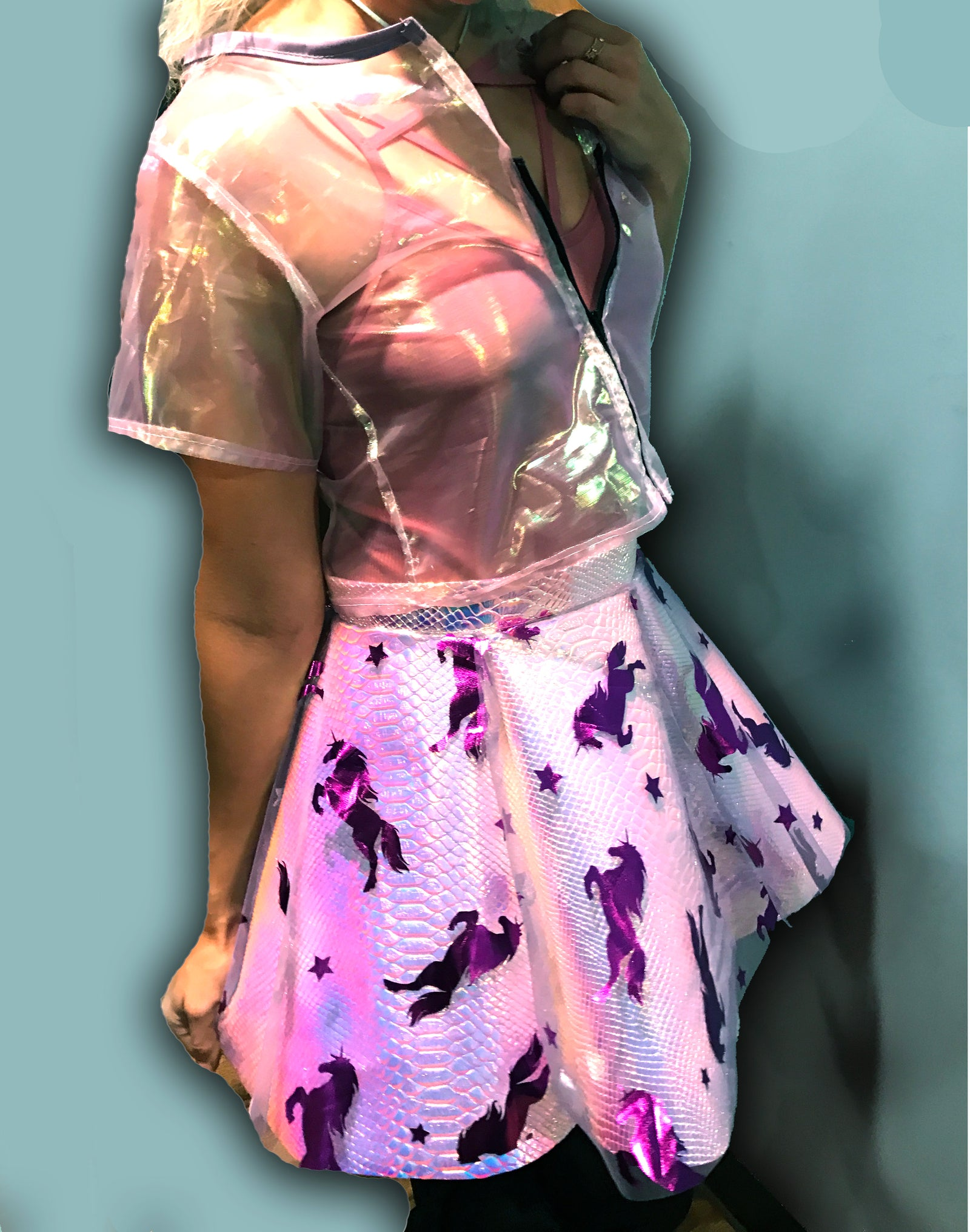 A Magical Unicorn Holographic Skirt